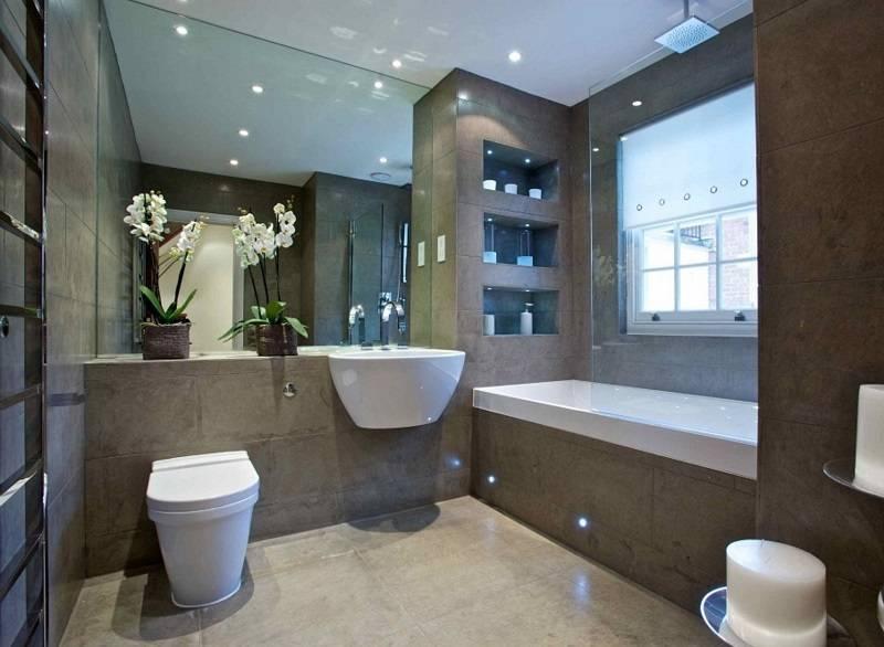 Ванная с окном: дизайн, 15 фото