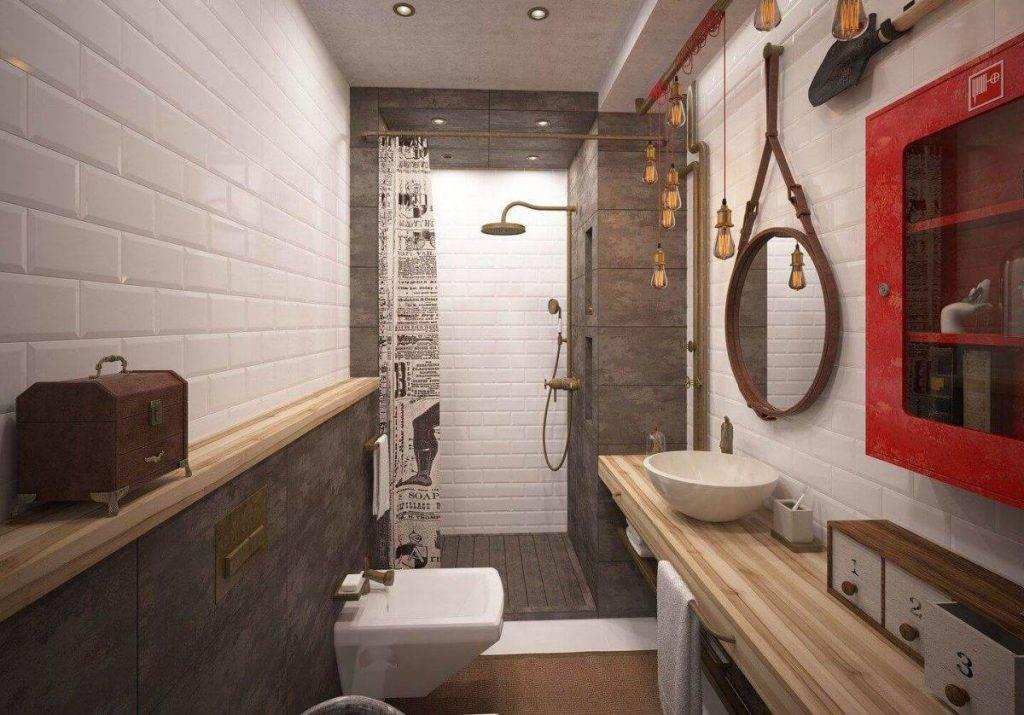 Ванна (санузел) в стиле лофт: фото, идеи и дизайнерские решения