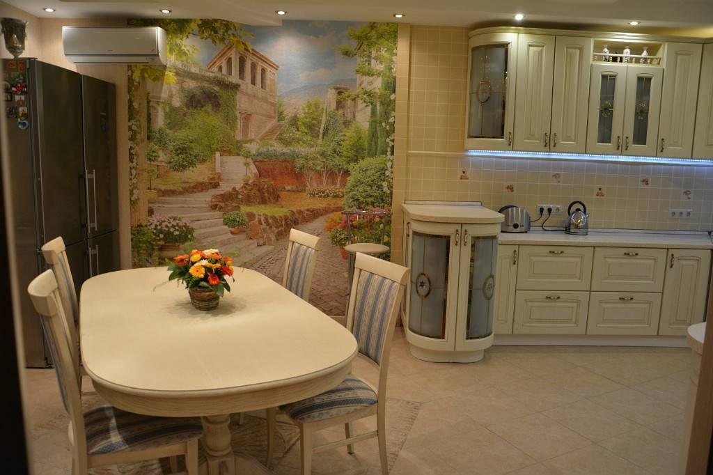 Фотообои на кухне 69 фото в интерьере - идеи дизайна и размещение
