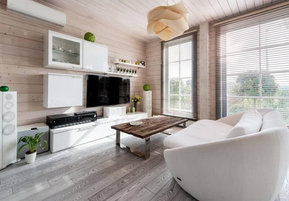 Интерьер деревянного дома в современном стиле: подборка лучших оформлений