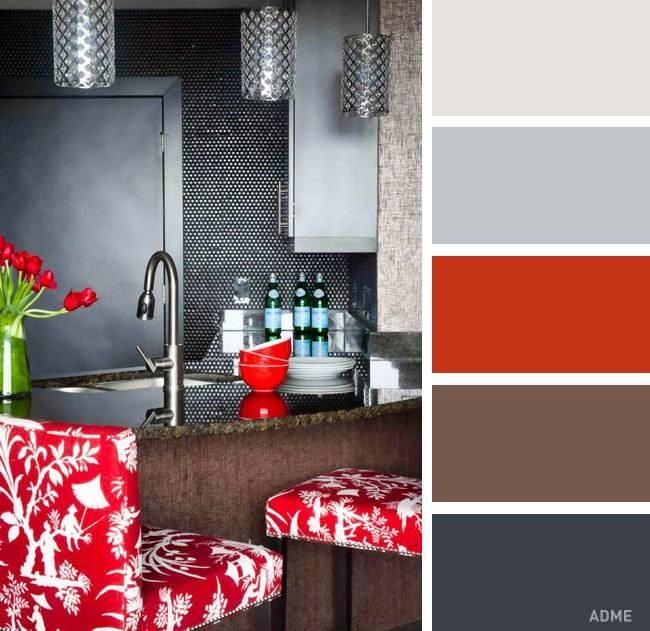 Сочетание цветов в интерьере: описание, таблица сочетаемости. сочетание цветов в гостиной, спальне, кухне: идеи, фото