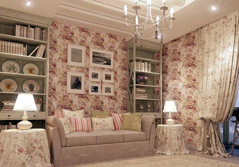 Гостиная в стиле прованс: фото, идеи лизайна, советы по выбору отделки, мебели, аксессуаров