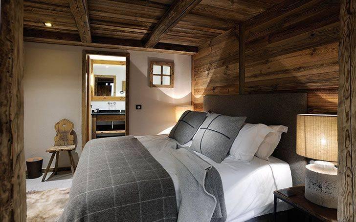 Спальня в стиле «шале»