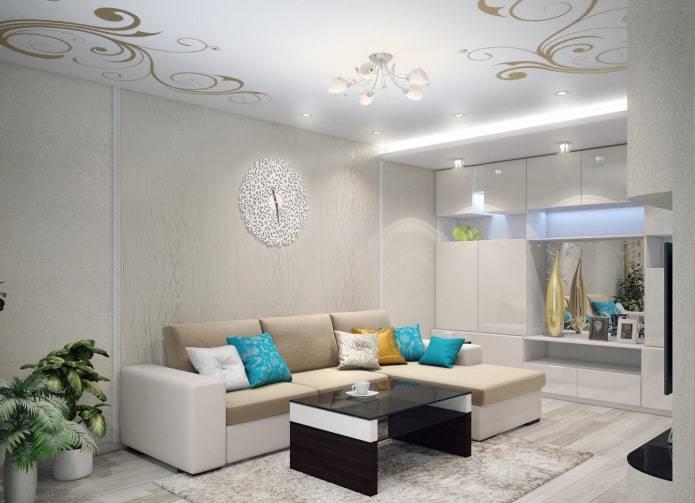 Двухуровневые натяжные потолки (100 фото) - идеи дизайна потолков в разных комнатах