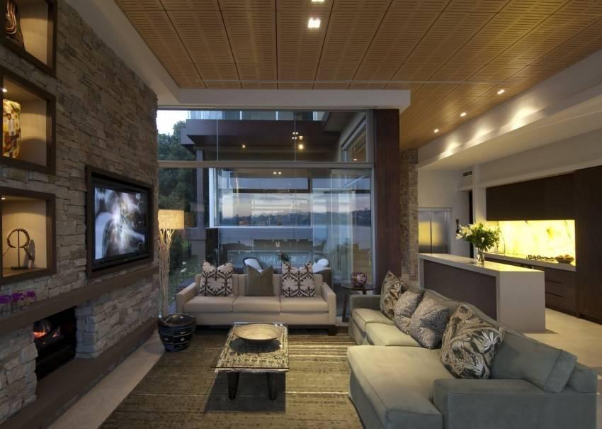 Интерьер гостиной в частном доме: свежие идеи и 35 фото