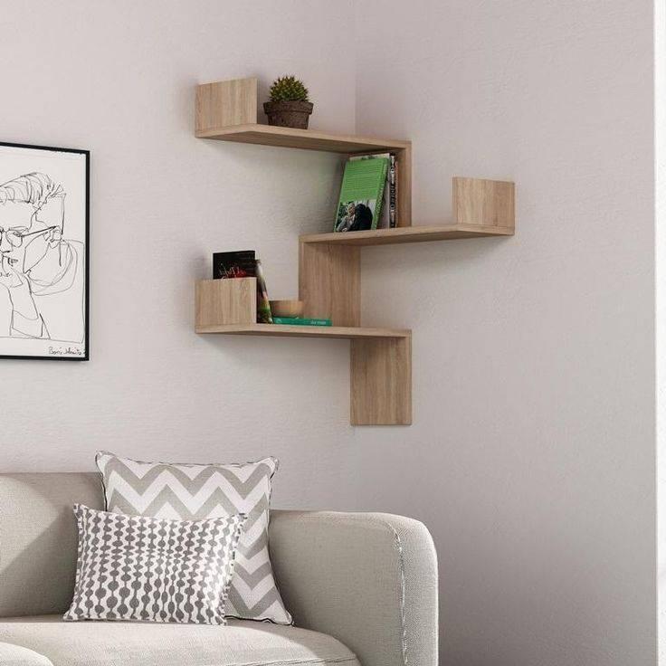 Полки в гостиную: современный дизайн и практичность