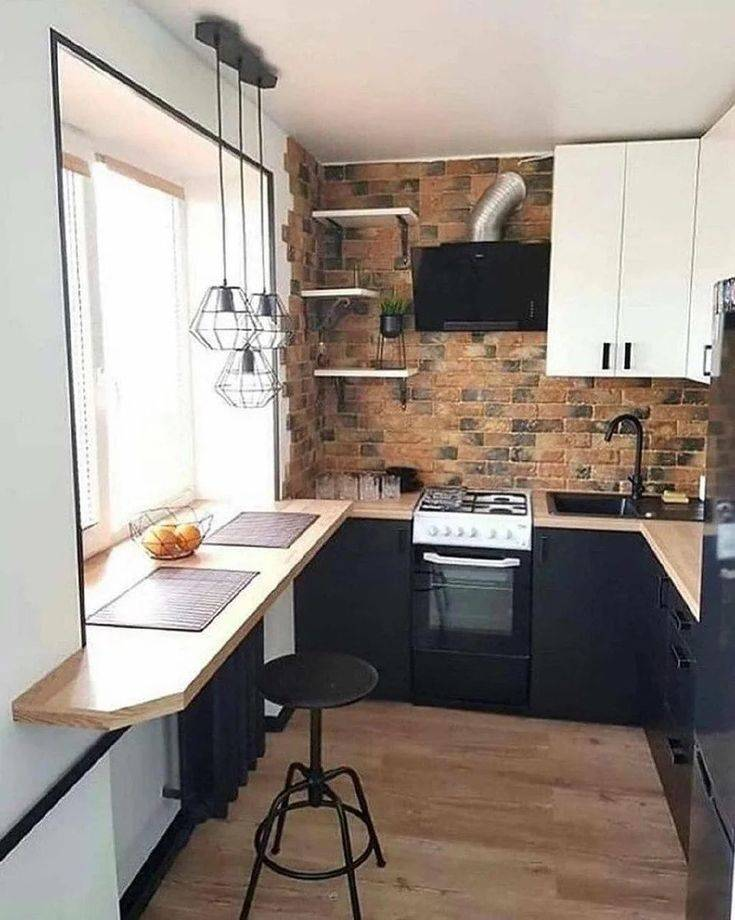 Дизайн кухни 6 кв м с холодильником в хрущевке — фото примеры