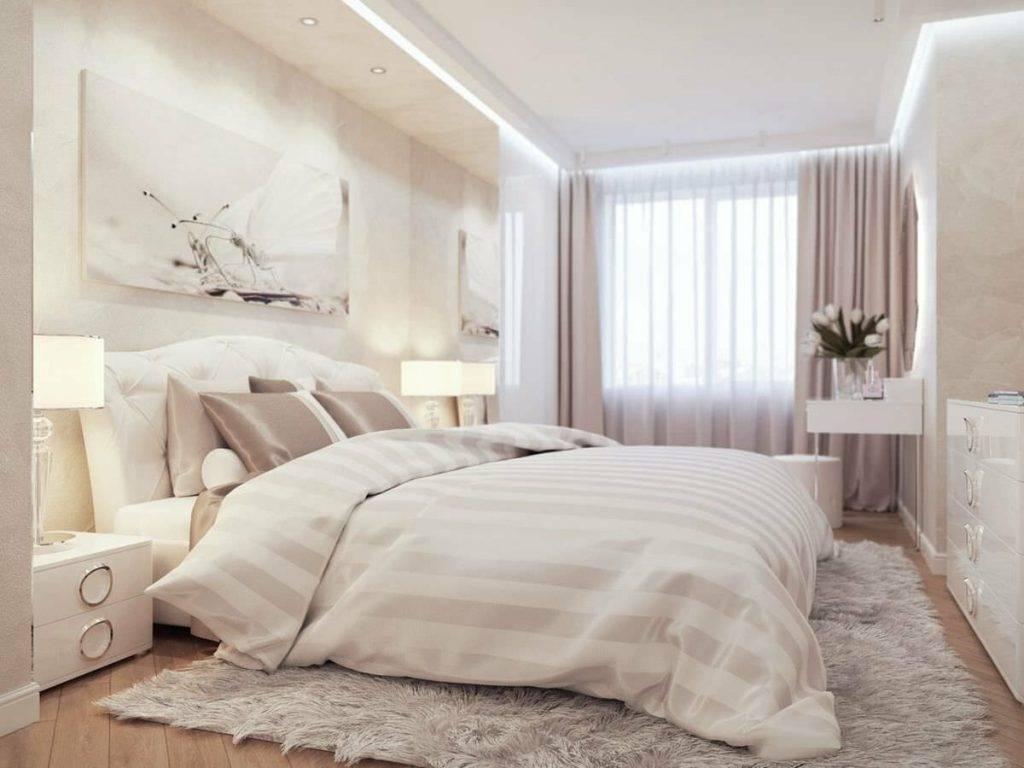 Светлая спальня - 150 фото новинок дизайна спальни в светлых тонах