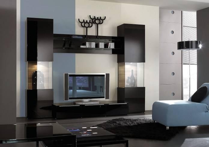 Угловая стенка под телевизор для гостиной: советы по выбору + 30 фото примеров
