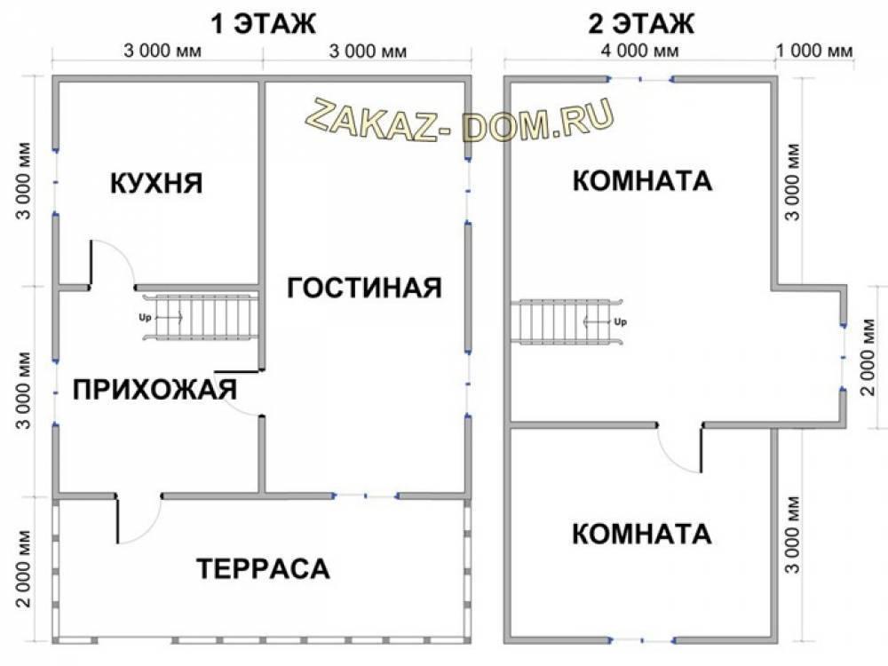 Дом с мансардой площадью 6х8: красивые идеи проектов