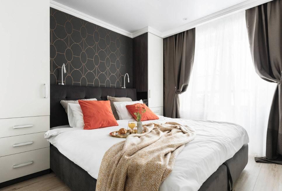 Дизайн спальни 9 кв м в современном стиле - 55 фото идей