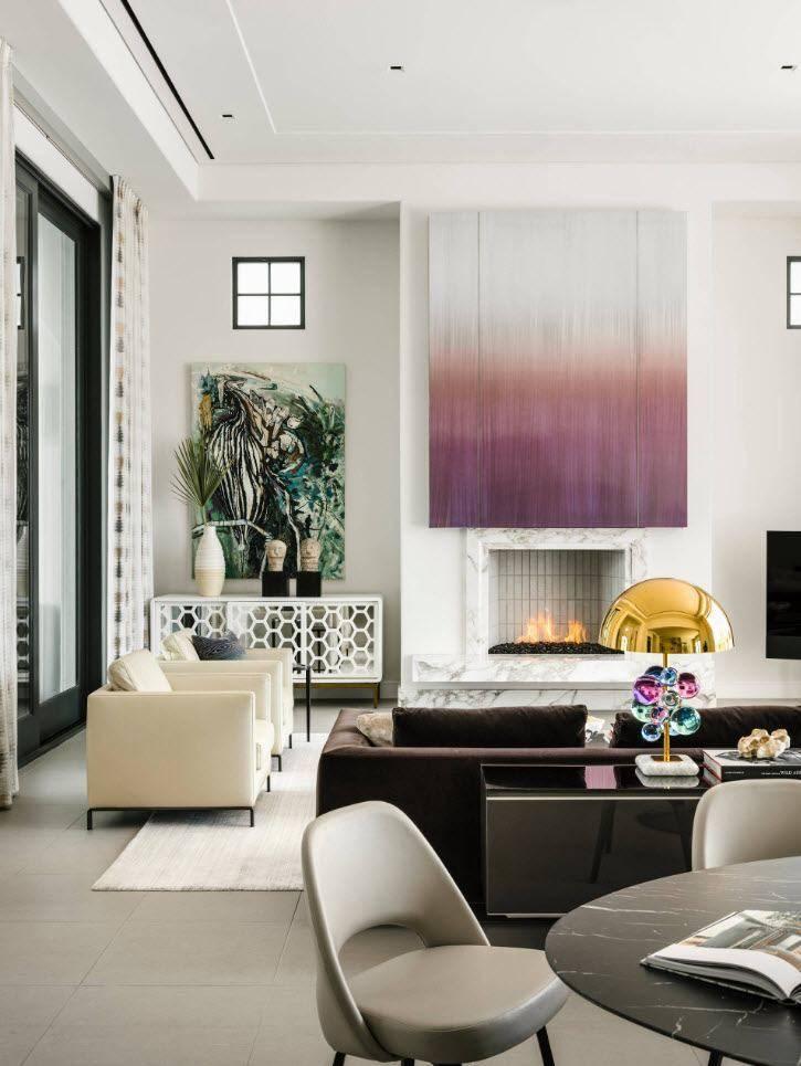 Акцентная стена в интерьере - игра цветов и фактур.