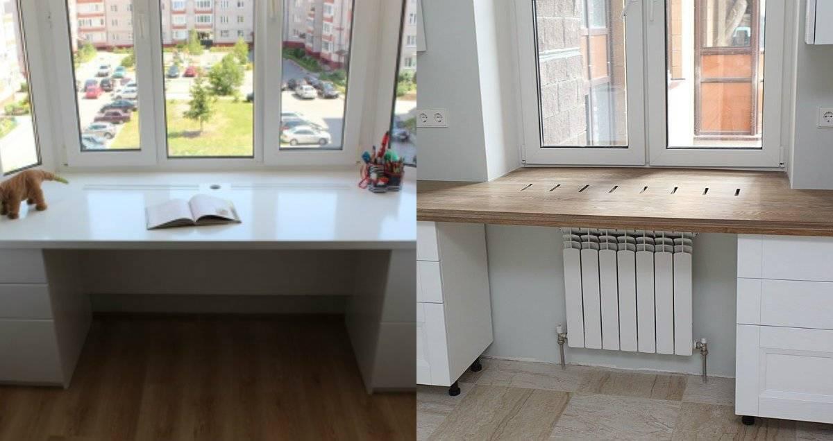 Столешница вместо подоконника – идеальное решение для маленькой кухни – блог про кухни: все о кухне – kuhnyamy.ru