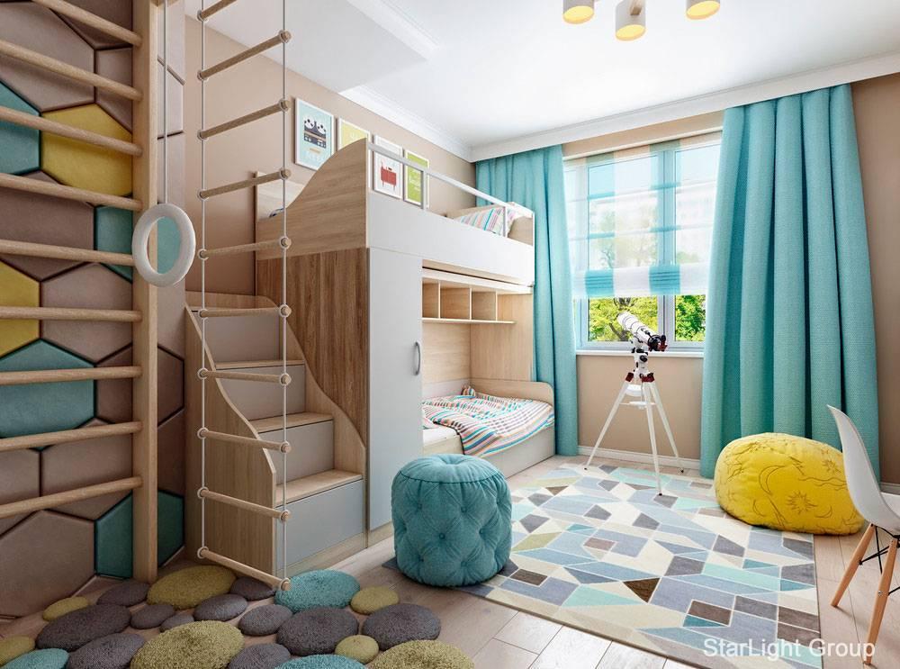 Дизайн детской для девочки и мальчика в одной комнате