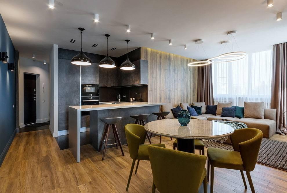 Идеи дизайна и планировки для кухни-гостиной 20 кв. м
