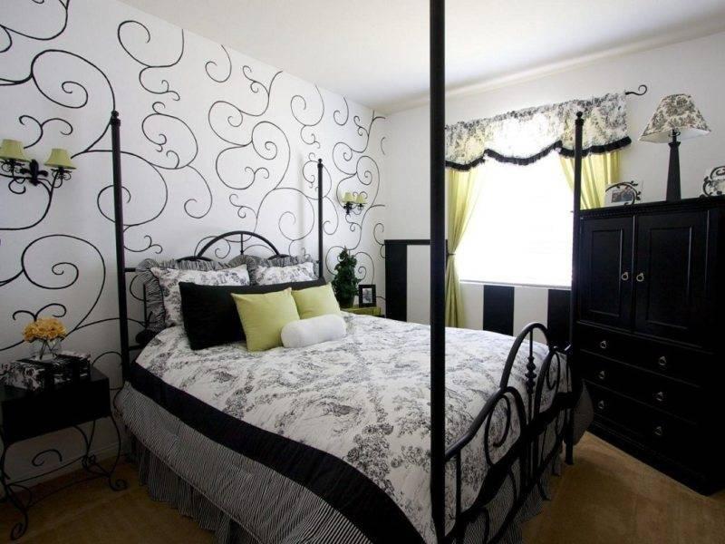 Черная спальня: фото в интерьере, особенности оформления, сочетания