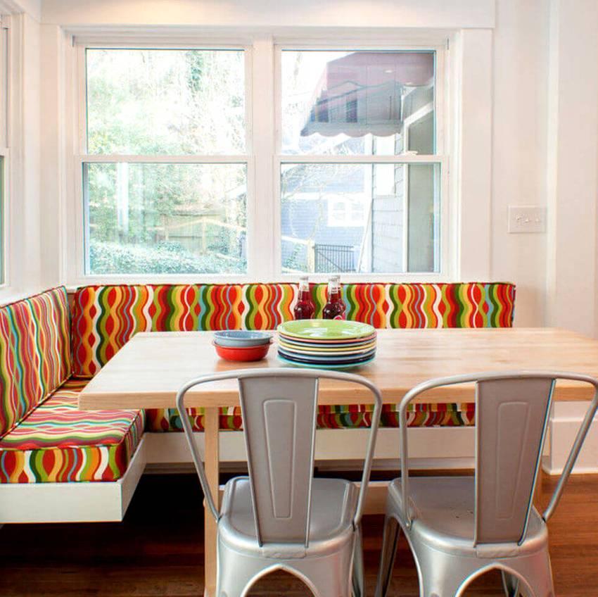 Размеры кухонных уголков (32 фото): стандартные размеры мягких уголков, габариты уголков для маленькой кухни и другие варианты