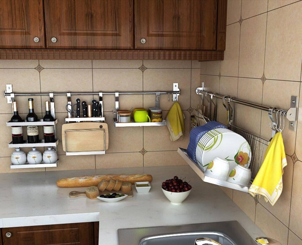 Рейлинги для кухни: мелочь, создающая комфорт (33 фото)