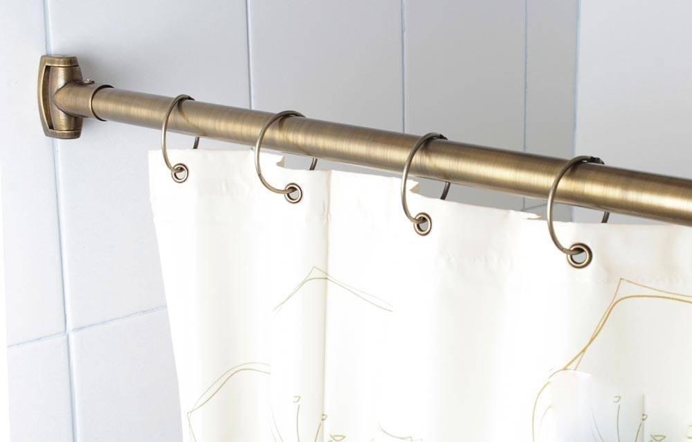 Особенности и порядок установки карниза для ванной раздвижного