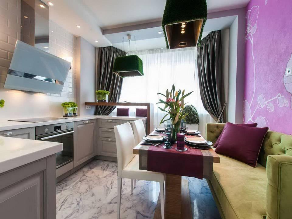 Идеи для интерьера кухонного помещения площадью 13 кв. метров
