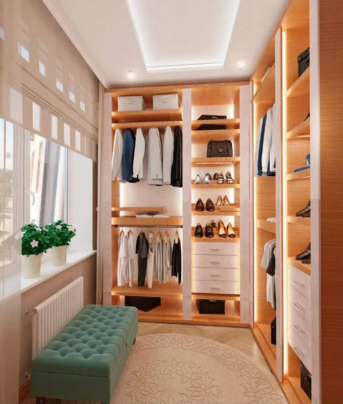 Варианты дизайна гардеробной в спальной комнате