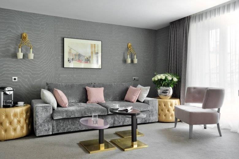 Дизайн гостиной в серых тонах - фото, идеи интерьера в сером цвете