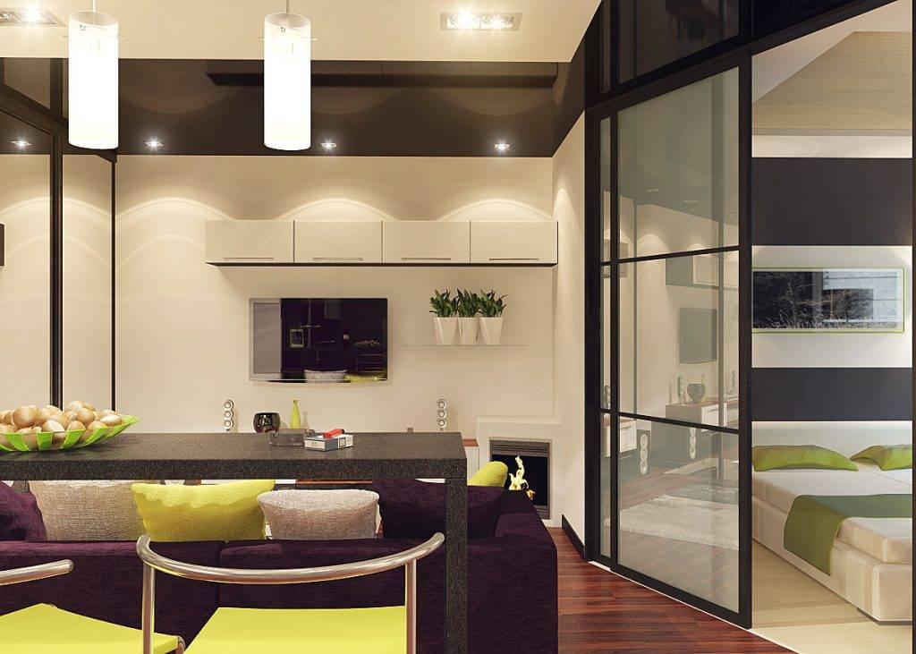 Освещение кухни-гостиной (11 фото): дизайн совмещенных комнат в светлых тонах с люстрами