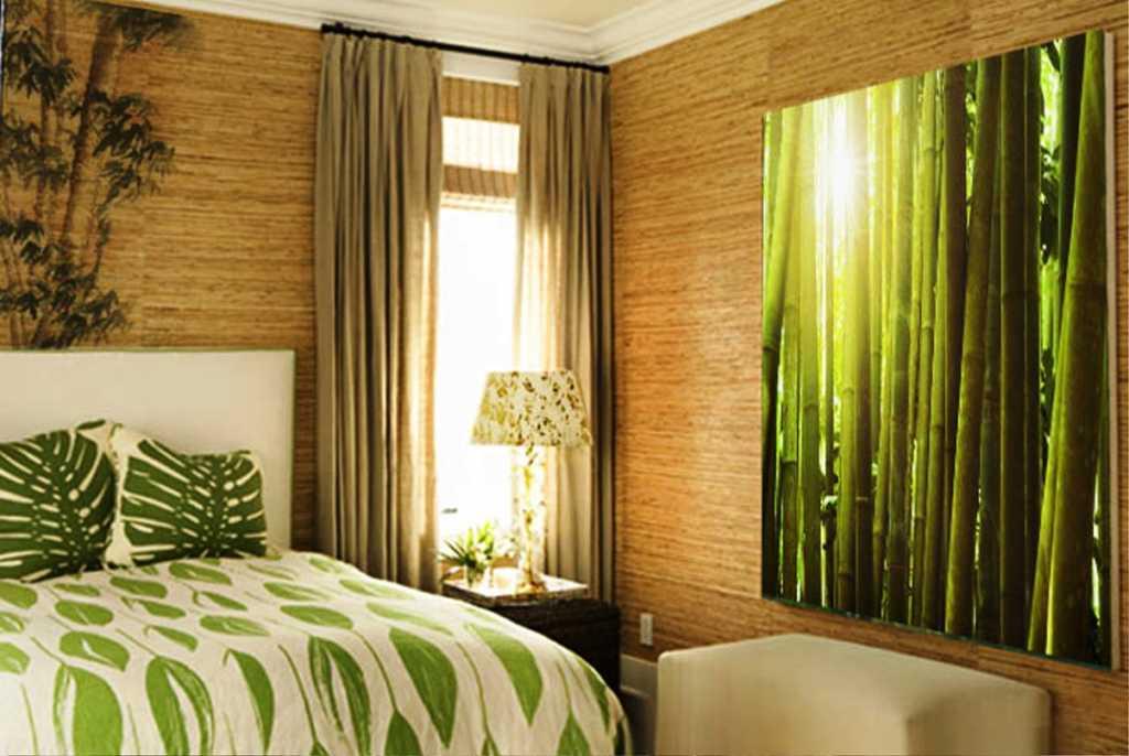 Бамбуковые обои в интерьере: 55+ лучших фото и идей дизайна