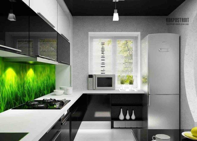 Черно-белая кухня: 100 фото дизайна интерьера, интересные проекты