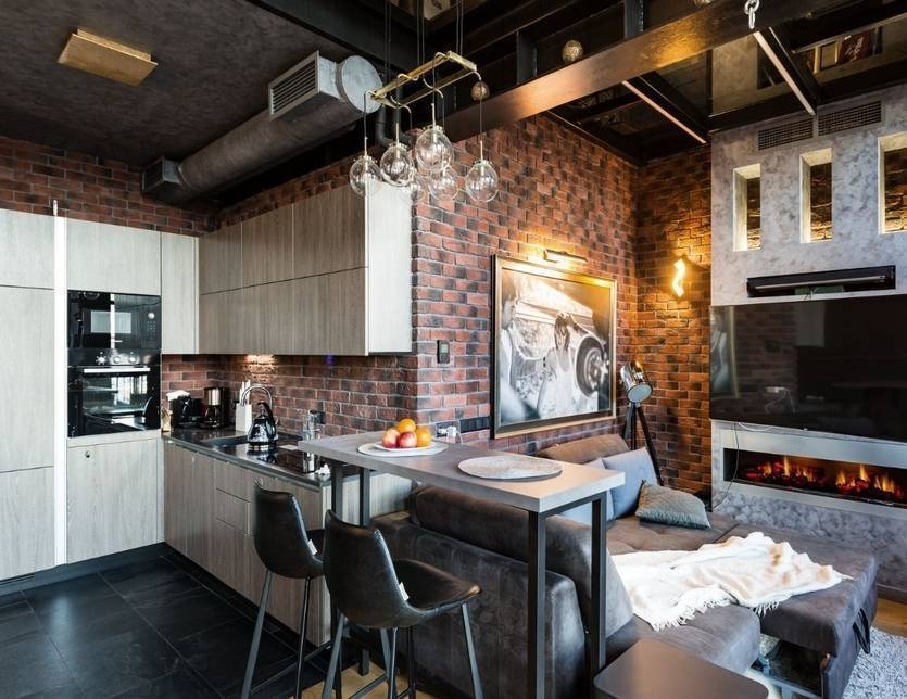 Кухни в стиле лофт — фото отчеты от хозяев