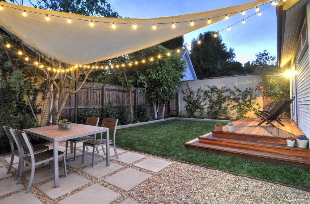 Дизайн и обустройство двора частного дома