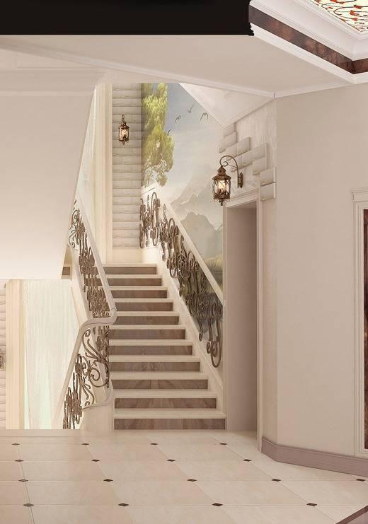 Дизайн холла с лестницей в частном доме: прихожая, интерьер коридора, варианты и фото-идеи