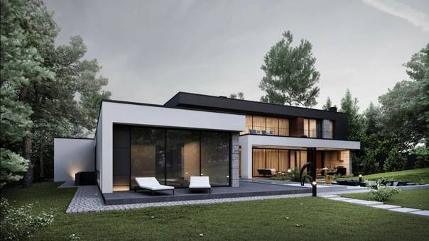Дома с плоской крышей: современные проекты с фото, разные стили