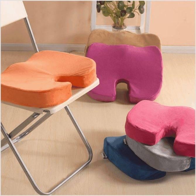 Ортопедическая подушка на стул – причины популярности, разновидности