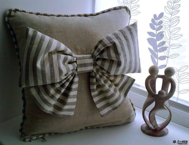 Декор диванных подушек своими руками — идеи