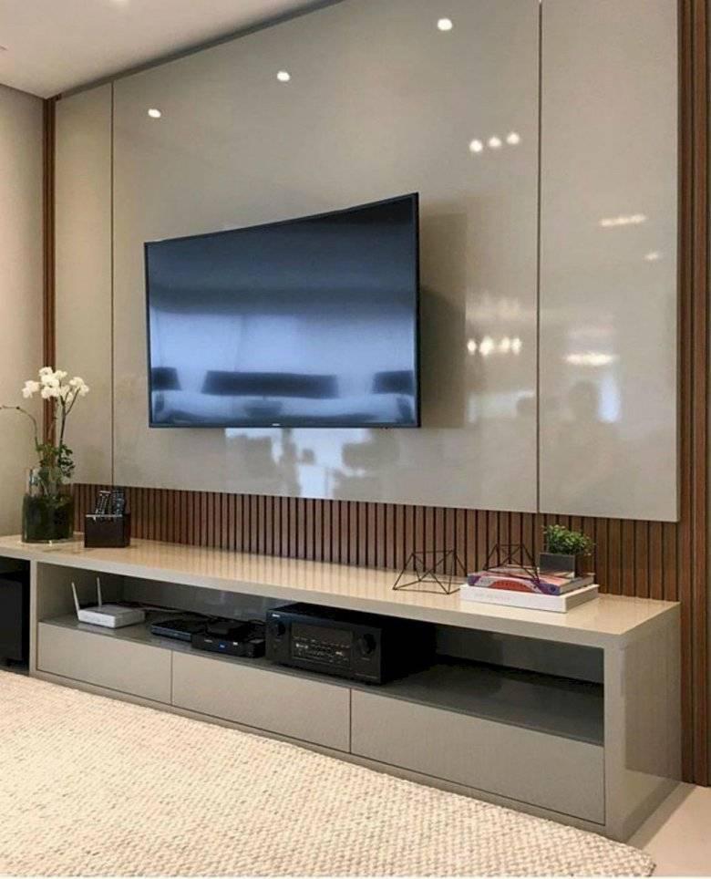 Стенки под телевизор (60 фото): угловые шкафы с нишей под тв для гостиной и спальни