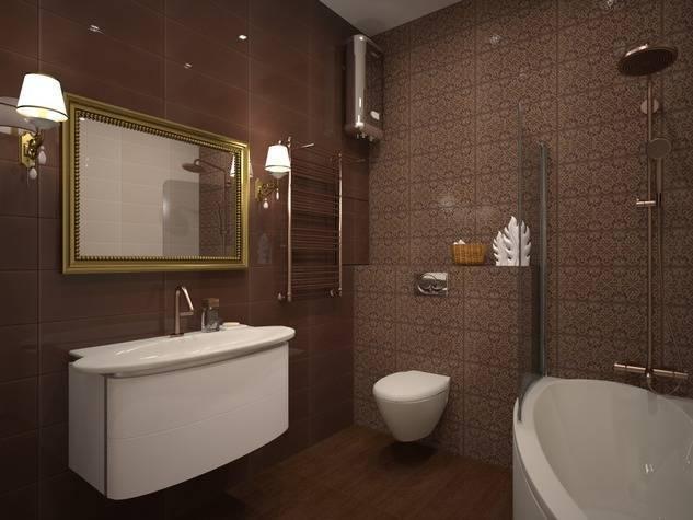 Дизайн стильной ванной комнаты в коричнево-бежевых тонах: нюансы оформления интерьера