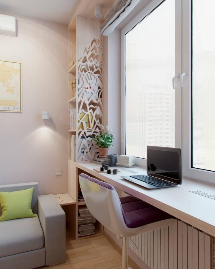 Стол-подоконник, разновидности, цветовая гамма, советы по установке