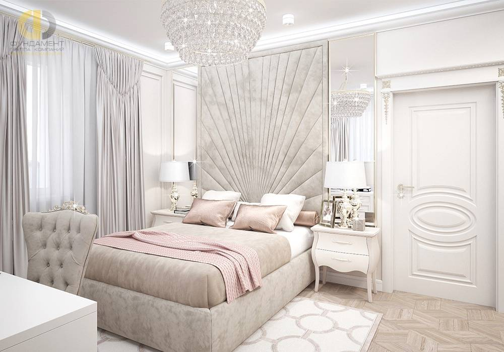 Дизайн спальни в стиле неоклассика, фото