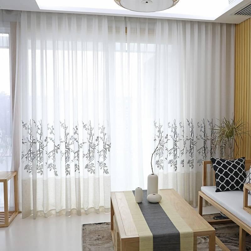 Тюль для зала без штор — что модно в 2019