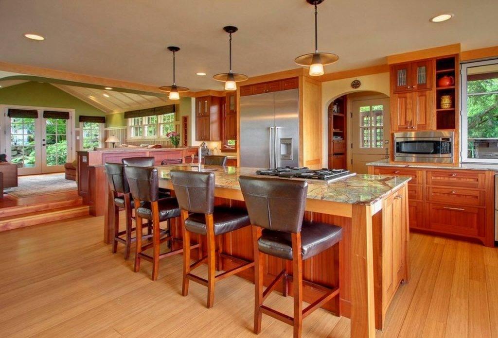 Дизайн кухни-столовой-гостиной в частном доме: как организовать пространство