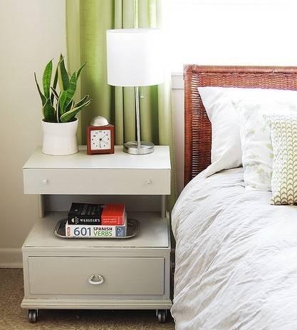 Подвесная прикроватная тумба в спальню - модели | фото