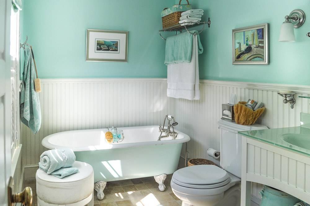 Дизайн ванной комнаты в стилистических и цветовых вариантах