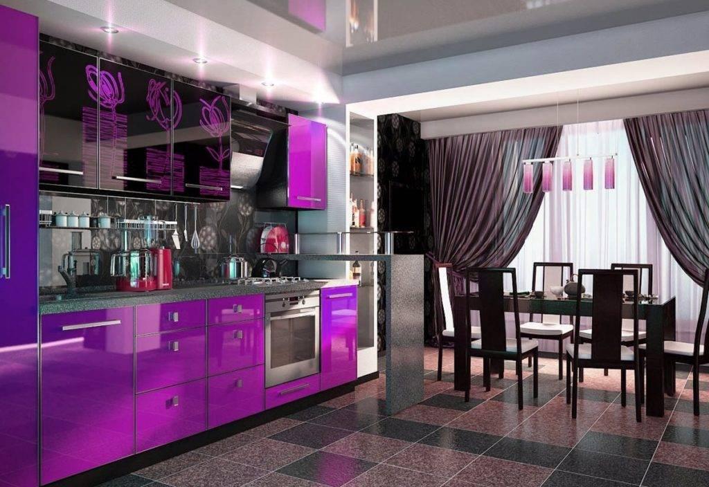Сиреневые кухни (88 фото): выбор кухонного гарнитура в сиреневых тонах, примеры дизайна интерьера с кухней лавандового, бело-сиреневого и других цветов