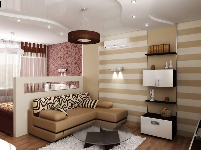 Спальня-гостиная 20 кв. м: дизайн, зонирование совмещенных помещений в одной комнате, интерьер, перегородки, проекты
