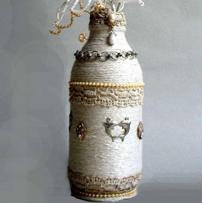 Как украсить бутылку своими руками: идеи красивого декора