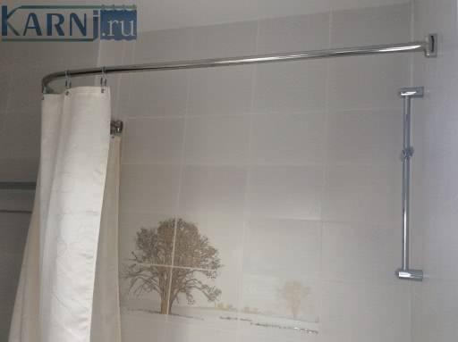 Угловой карниз для штор в ванной: 100+ фото [лучшие идеи 2019]