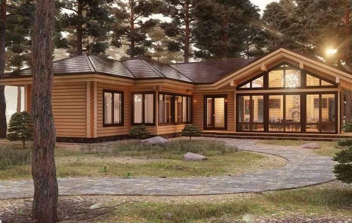 Проекты одноэтажных домов с панорамным видом
