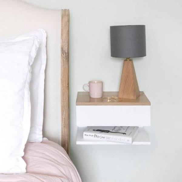 Тумбочки в спальню - 70 фото размещения и обустройства прикроватных тумб