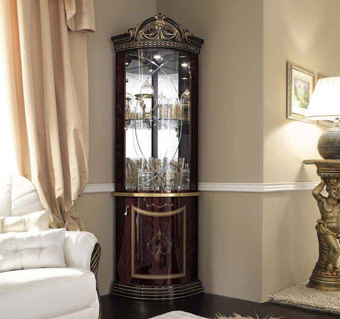 Радиусные шкафы в гостиную как оригинальный элемент интерьера
